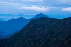 Ανατολή πέρα από τη ζούγκλα στις ορεινές περιοχές του Cameron, Μαλαισία Στοκ Εικόνα