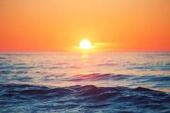 Ανατολή πέρα από τη θάλασσα Στοκ φωτογραφίες με δικαίωμα ελεύθερης χρήσης