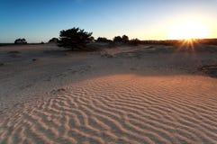 Ανατολή πέρα από τον αμμόλοφο άμμου Στοκ φωτογραφία με δικαίωμα ελεύθερης χρήσης