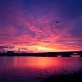 Ανατολή πέρα από το Potomac ποταμό στο Washington DC. Στοκ φωτογραφίες με δικαίωμα ελεύθερης χρήσης