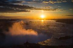 Ανατολή πέρα από Niagara Στοκ Εικόνα