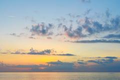 Ανατολή παραλιών θάλασσας Στοκ Φωτογραφία