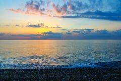 Ανατολή παραλιών θάλασσας Στοκ Φωτογραφίες
