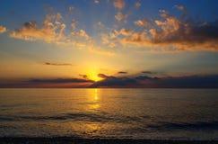 Ανατολή παραλιών θάλασσας Στοκ εικόνες με δικαίωμα ελεύθερης χρήσης