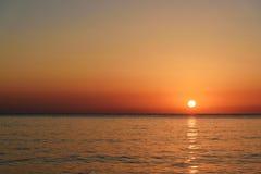 Ανατολή παραλιών θάλασσας Στοκ Εικόνες