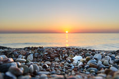Ανατολή παραλιών θάλασσας Στοκ εικόνα με δικαίωμα ελεύθερης χρήσης
