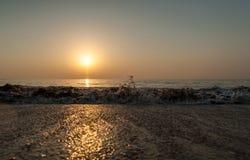 Ανατολή σε Ινδικό Ωκεανό/το Φούτζερα Ε.Α.Ε. Στοκ εικόνες με δικαίωμα ελεύθερης χρήσης