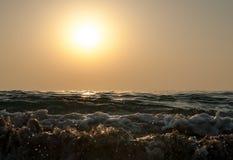 Ανατολή σε Ινδικό Ωκεανό/το Φούτζερα Ε.Α.Ε. Στοκ εικόνα με δικαίωμα ελεύθερης χρήσης