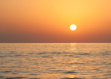 Ανατολή σε Ινδικό Ωκεανό/το Φούτζερα Ε.Α.Ε. Στοκ φωτογραφίες με δικαίωμα ελεύθερης χρήσης