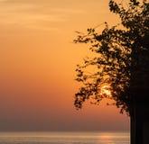 Ανατολή σε Ινδικό Ωκεανό/το Φούτζερα Ε.Α.Ε. Στοκ φωτογραφία με δικαίωμα ελεύθερης χρήσης
