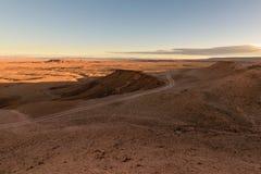 Ανατολή σε μια έρημο πετρών, Μαρόκο Στοκ Εικόνες