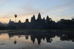 Ανατολή σε Angkor Wat, Καμπότζη Στοκ φωτογραφία με δικαίωμα ελεύθερης χρήσης