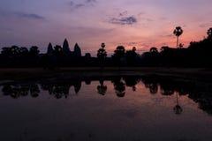 Ανατολή σε Angkor Wat, μια περιοχή κληρονομιάς της ΟΥΝΕΣΚΟ στην Καμπότζη Στοκ Εικόνες