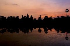Ανατολή σε Angkor Wat, μια περιοχή κληρονομιάς της ΟΥΝΕΣΚΟ στην Καμπότζη Στοκ Εικόνα