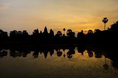Ανατολή σε Angkor Wat, μια περιοχή κληρονομιάς της ΟΥΝΕΣΚΟ στην Καμπότζη Στοκ Φωτογραφία
