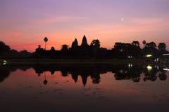 Ανατολή σε Angkor Wat, μια περιοχή κληρονομιάς της ΟΥΝΕΣΚΟ στην Καμπότζη Στοκ φωτογραφία με δικαίωμα ελεύθερης χρήσης