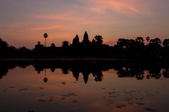 Ανατολή σε Angkor Wat, μια περιοχή κληρονομιάς της ΟΥΝΕΣΚΟ στην Καμπότζη Στοκ φωτογραφίες με δικαίωμα ελεύθερης χρήσης