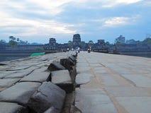 Ανατολή σε Angkor Wat Στοκ εικόνες με δικαίωμα ελεύθερης χρήσης