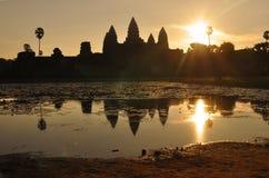 Ανατολή σε Angkor Wat Στοκ εικόνα με δικαίωμα ελεύθερης χρήσης