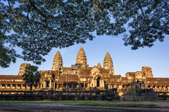 Ανατολή σε Angkor Wat Στοκ Φωτογραφίες