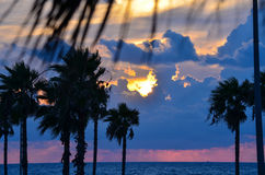 Ανατολή σε Galveston Στοκ Εικόνα