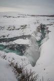 Ανατολή σε Gullfoss στην Ισλανδία Στοκ Εικόνα