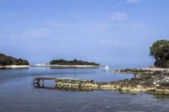 Ανατολή σε Istrie Στοκ Εικόνα