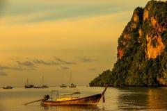 Ανατολή σε Krabi Ταϊλάνδη Στοκ Φωτογραφίες