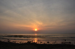 Ανατολή σε Pantai Batu Hitam Στοκ φωτογραφίες με δικαίωμα ελεύθερης χρήσης