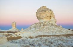 Ανατολή στην άσπρη έρημο, Αίγυπτος Στοκ Εικόνα