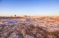 Ανατολή στην άσπρη έρημο, Αίγυπτος Στοκ Φωτογραφία