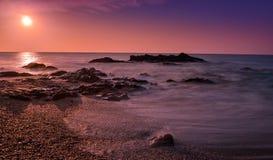 Ανατολή στην ακτή ηλιοφάνειας, Ισπανία ΙΙ Στοκ Φωτογραφία