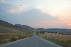 Ανατολή στην βόρειος-Ελλάδα Στοκ Εικόνες