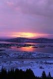 Ανατολή στην Ισλανδία Στοκ εικόνα με δικαίωμα ελεύθερης χρήσης