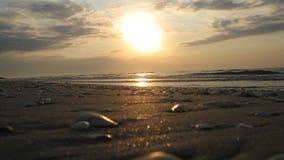 Ανατολή στην παραλία κορακιών Στοκ φωτογραφία με δικαίωμα ελεύθερης χρήσης
