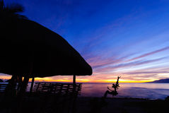 Ανατολή στην παραλία Στοκ φωτογραφία με δικαίωμα ελεύθερης χρήσης