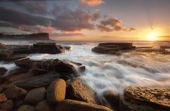Ανατολή στην παραλία Avalon στοκ φωτογραφία