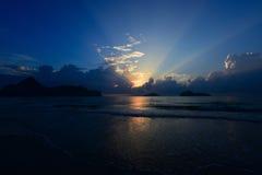 Ανατολή στην παραλία Prachuab, Ταϊλάνδη Στοκ Εικόνες