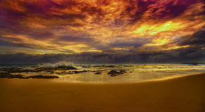 Ανατολή στην παραλία Tugun Στοκ Φωτογραφίες