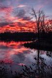 Ανατολή στην Πολωνία Στοκ φωτογραφία με δικαίωμα ελεύθερης χρήσης