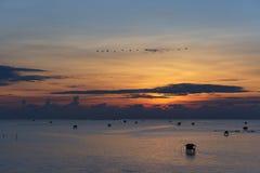 Ανατολή στον κόλπο της Ταϊλάνδης Στοκ φωτογραφία με δικαίωμα ελεύθερης χρήσης