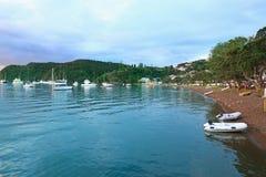 Ανατολή στον κόλπο των νησιών, βόρειο νησί, Νέα Ζηλανδία Στοκ Εικόνα