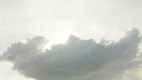 Ανατολή στον ουρανού μαλακό τόνο χρώματος σύννεφων γκρίζο Στοκ Εικόνα