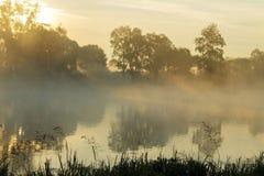 ανατολή στον ποταμό Στοκ Φωτογραφίες