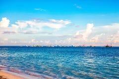 Ανατολή στον ωκεανό σε Punta Cana Στοκ φωτογραφία με δικαίωμα ελεύθερης χρήσης