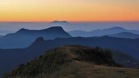 Ανατολή στους λόφους του Νεπάλ Στοκ φωτογραφία με δικαίωμα ελεύθερης χρήσης