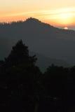 Ανατολή στο Ιμαλάια, Νεπάλ Άποψη από το Hill Poon Στοκ φωτογραφία με δικαίωμα ελεύθερης χρήσης