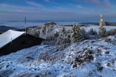 Ανατολή στο μεγάλο βουνό Arber Στοκ Φωτογραφίες
