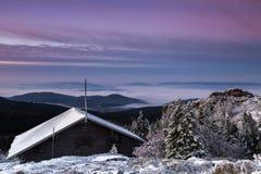 Ανατολή στο μεγάλο βουνό Arber Στοκ εικόνα με δικαίωμα ελεύθερης χρήσης