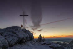 Ανατολή στο μεγάλο βουνό Arber Στοκ φωτογραφία με δικαίωμα ελεύθερης χρήσης